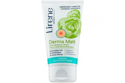 Lirene Derma Matt normalizáló tisztító gél bőrhámlasztó hatással  150 ml tisztító zselék