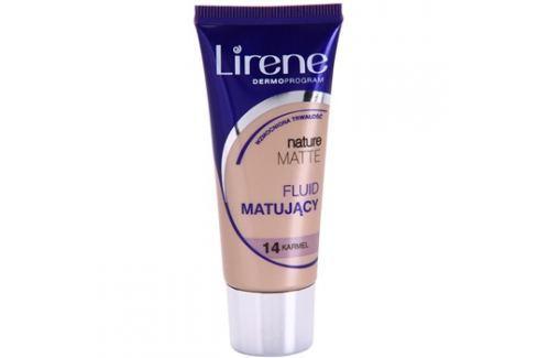 Lirene Nature Matte mattító make-up folyadék a hosszan tartó hatásért árnyalat 14 Caramel 30 ml up