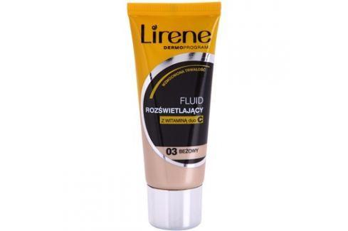 Lirene Vitamin C bőrvilágosító make-up fluid a hosszan tartó hatásért árnyalat 03 Beige 30 ml up