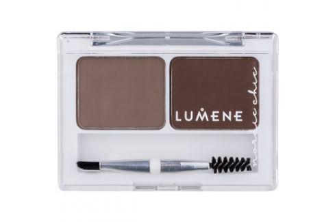 Lumene Nordic Chic paletta a szemöldök sminkeléséhez árnyalat 1 Medium Brown 2 x 1,8 g Szemöldökformázás