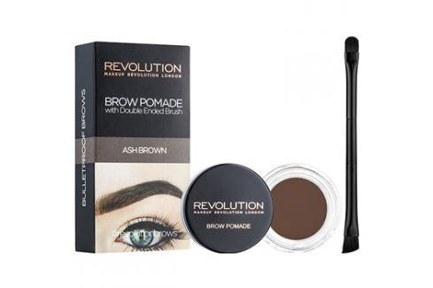 Makeup Revolution Brow Pomade szemöldök pomádé árnyalat Ash Brown 2,5 g szemöldökceruza