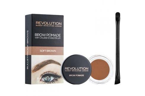 Makeup Revolution Brow Pomade szemöldök pomádé árnyalat Soft Brown 2,5 g szemöldökceruza
