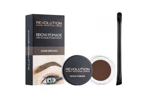 Makeup Revolution Brow Pomade szemöldök pomádé árnyalat Dark Brown 2,5 g szemöldökceruza
