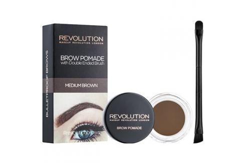 Makeup Revolution Brow Pomade szemöldök pomádé árnyalat Medium Brown 2,5 g szemöldökceruza