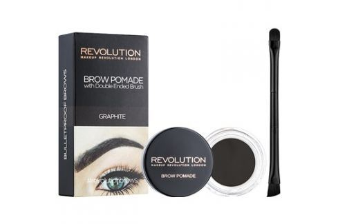 Makeup Revolution Brow Pomade szemöldök pomádé árnyalat Graphite 2,5 g szemöldökceruza
