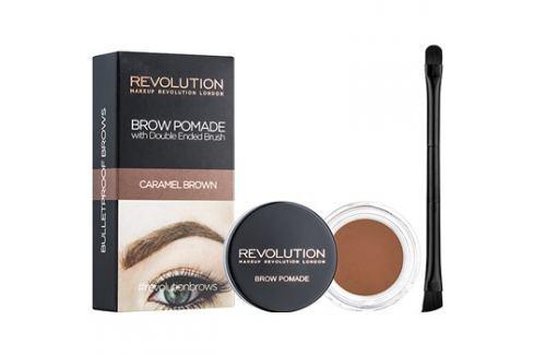 Makeup Revolution Brow Pomade szemöldök pomádé árnyalat Caramel Brown 2,5 g szemöldökceruza