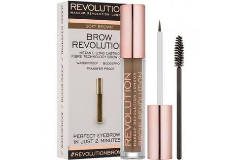 Makeup Revolution Brow Revolution fixáló gél szemöldökre árnyalat Soft Brown 3,8 g szemöldökceruza