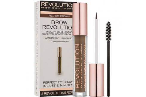 Makeup Revolution Brow Revolution fixáló gél szemöldökre árnyalat Medium Brown 3,8 g szemöldökceruza
