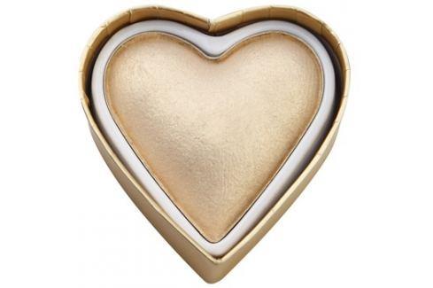 Makeup Revolution I ♥ Makeup Blushing Hearts világosító púder arany istennő  10 g Highlighterek