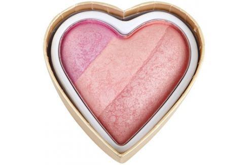 Makeup Revolution I ♥ Makeup Blushing Hearts arcpirosító árnyalat Candy Queen Of Hearts 10 g Arcpír