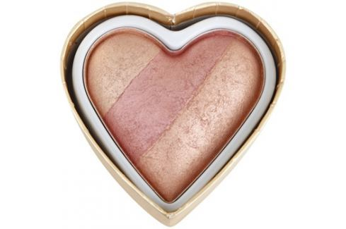 Makeup Revolution I ♥ Makeup Blushing Hearts arcpirosító árnyalat Peachy Keen Heart 10 g Arcpír