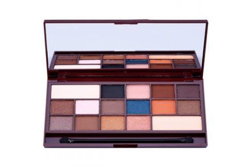 Makeup Revolution I ♥ Makeup I Heart Chocolate szemhéjfesték paletták tükörrel és aplikátorral árnyalat Salted Caramel  22 g Szemhéjfestékek