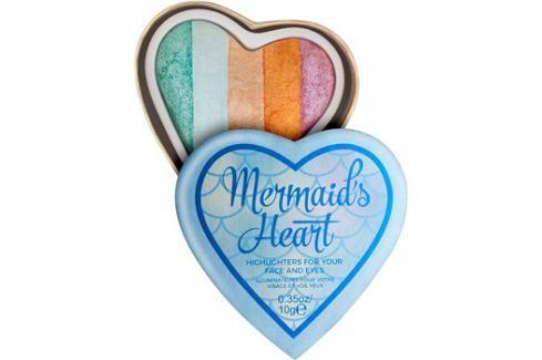 Makeup Revolution I ♥ Makeup Mermaid's Heart bőrélénkítő arcra és szemre  10 g Highlighterek