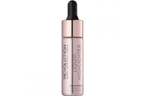 Makeup Revolution Liquid Highlighter folyékony bőrélénkítő árnyalat Liquid Starlight 18 ml Highlighterek