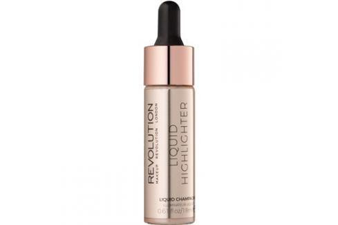 Makeup Revolution Liquid Highlighter folyékony bőrélénkítő árnyalat Liquid Champagne 18 ml Highlighterek
