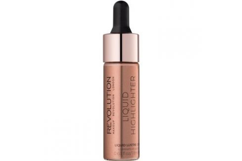Makeup Revolution Liquid Highlighter folyékony bőrélénkítő árnyalat Liquid Lustre Gold 18 ml Highlighterek