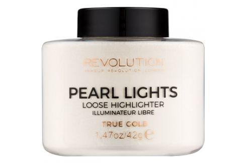 Makeup Revolution Pearl Lights gyengéd élénkítő árnyalat True Gold 42 g Highlighterek