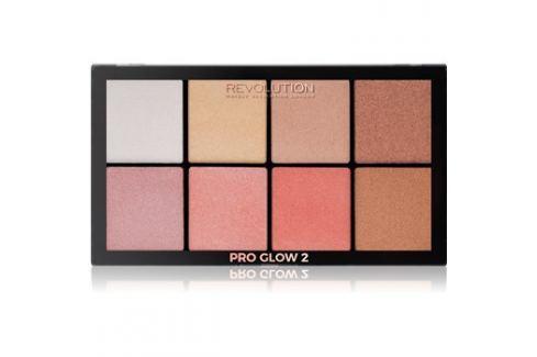 Makeup Revolution Pro Glow 2 bőrvilágosító paletta 8 x 2,5 g Highlighterek