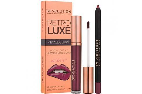 Makeup Revolution Retro Luxe fémes ajak szett árnyalat Worth It 5,5 ml Kontúr ceruzák szájra