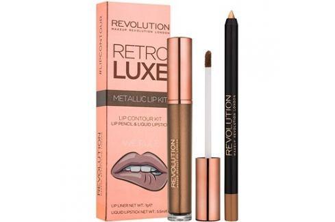 Makeup Revolution Retro Luxe fémes ajak szett árnyalat We Rule 5,5 ml Kontúr ceruzák szájra