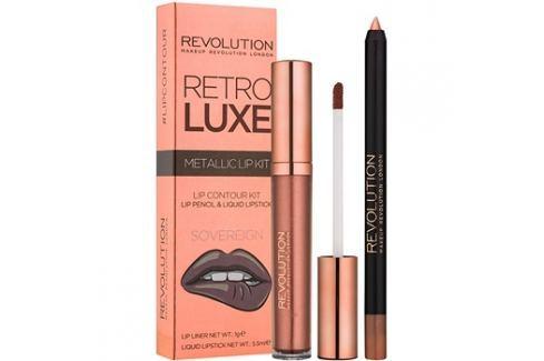 Makeup Revolution Retro Luxe fémes ajak szett árnyalat Sovereign 5,5 ml Kontúr ceruzák szájra