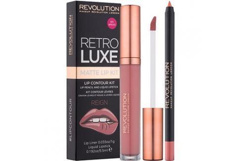 Makeup Revolution Retro Luxe matt szett ajkakra árnyalat Reign 5,5 ml Kontúr ceruzák szájra