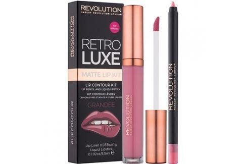 Makeup Revolution Retro Luxe matt szett ajkakra árnyalat Grandee 5,5 ml Kontúr ceruzák szájra