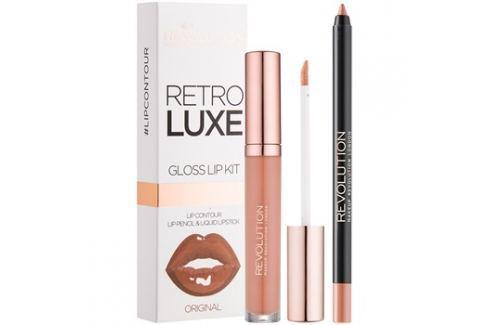 Makeup Revolution Retro Luxe ajakápoló készlet árnyalat Original 5,5 ml Kontúr ceruzák szájra