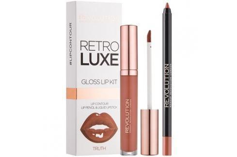 Makeup Revolution Retro Luxe ajakápoló készlet árnyalat Truth 5,5 ml Kontúr ceruzák szájra