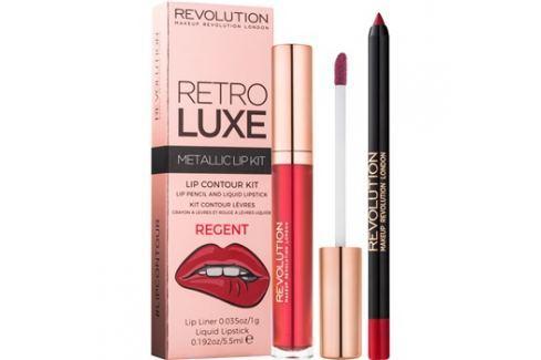Makeup Revolution Retro Luxe fémes ajak szett árnyalat Regent 5,5 ml Kontúr ceruzák szájra