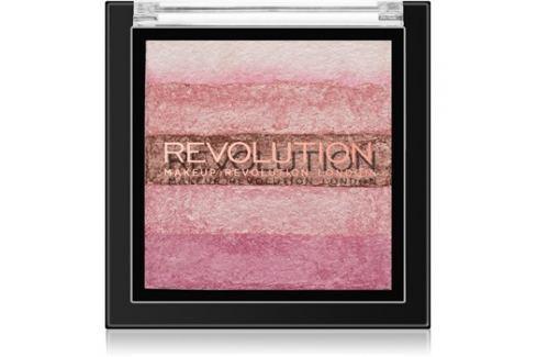 Makeup Revolution Shimmer Brick bronzosító és élénkítő 2 az 1-ben árnyalat Pink Kiss 7 g Arcpír