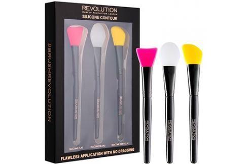 Makeup Revolution Silicone Contour szilikonos kontúrozó ecset szett  3 db Arcecset