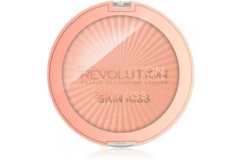 Makeup Revolution Skin Kiss bőrélénkítő arcra és szemre árnyalat Rose Gold Kiss 14 g Highlighterek