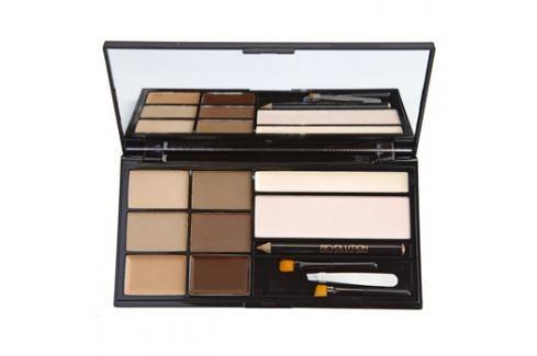 Makeup Revolution Ultra Brow paletta a szemöldök sminkeléséhez árnyalat Fair To Medium  18 g szemöldökceruza