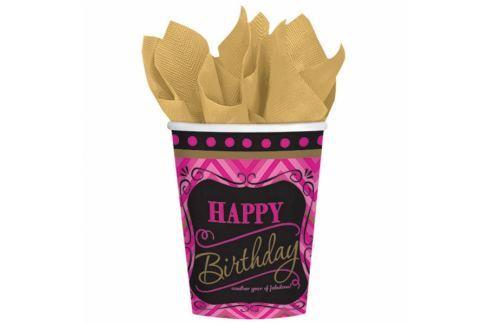 Amscan Poharak - Happy Birthday - Born to be fabulous! 8 db Poharak