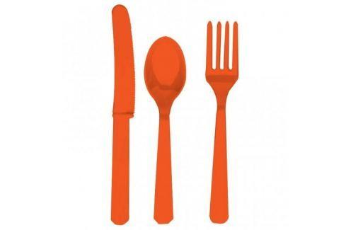 Amscan Evőeszköz - narancssárga, 8 főre Evőeszközök