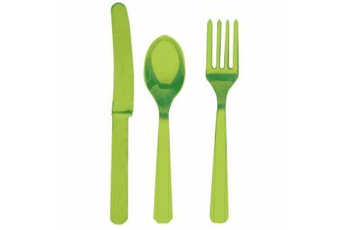 Amscan Evőeszköz - zöld, 8 főre Evőeszközök