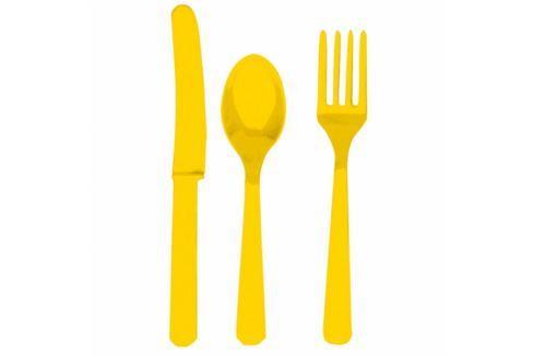 Amscan Evőeszköz - sárga, 8 főre Evőeszközök
