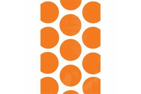 Amscan Papír tasakok - pöttyös, narancssárga 10 db Dekoratív boxok